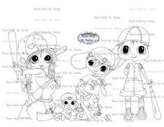 Faça o Download Digital Digi selos Olho grande Big Head Dolls Bestie Bestie equipe por Sherri Baldy