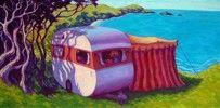 Rachel Olsen - NZ Artist Nz Art, Kiwiana, Beach Art, Olsen, Murals, New Zealand, Giclee Print, Coastal, Outdoor Blanket