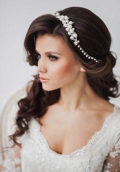 Свадебная прическа волны на длинные волосы