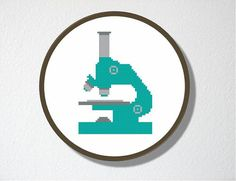 Cross stitch Pattern PDF Microscope Includes by CharlotteAlexander, $4.50