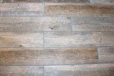 New house Completed tile floor in bathroom using long wood-look tile porcelain planks. Keep Your Yar Wood Tile Bathroom Floor, Wood Look Tile Floor, Grey Wood Tile, Floor Grout, Plank Tile Flooring, Wood Plank Tile, Wood Tile Floors, Wood Planks, Bathroom Interior Design