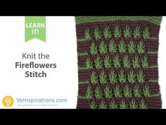 How To Knit the Fireflowers Stitch
