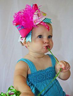 cupcake hair bow - Google Search