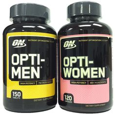 Optimum Nutrition Opti-Men 150 Multivitamin Tablets   Opti-Women 120 Tablets >>> You can find out more details at the link of the image.