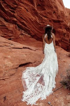 A sneak peak at the brand new modern and romantic boho wedding dress collections, Moonrise Canyon from Rue De Seine available exclusivley at our bridal shops. Western Wedding Dresses, Bohemian Wedding Dresses, Wedding Dress Styles, Bridal Dresses, Wedding Gowns, Bohemian Weddings, Fringe Wedding Dress, Indian Weddings, Native American Wedding Dresses