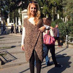 Edyta 100% Lambskin Leather Handmade Knitted Full Length Top