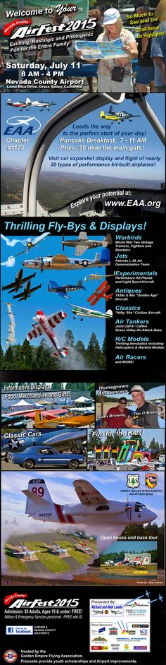 AirFest, Nevada County Airport, Saturday, July 11th, 8am-4pm #GrassValley