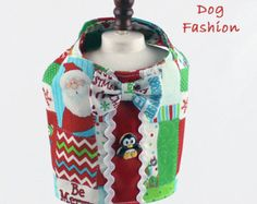 Dog harness Boy dog harness Christmas dog by LittleDogFashion