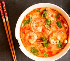 Asian Tom Yum Soup with Shrimps - Valerie's Keepers
