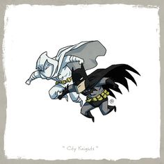 Moon Knight & Batman  DC vs Marvel