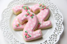 Number Cookies 1 dozen...can be ordered via Etsy Shop