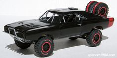 Finally finished this off over the weekend.  It started as a Revell '68 Charger body on an AMT NASCAR chassis, though there's not much left of either one......