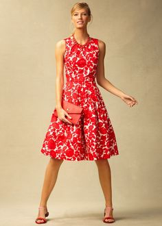Talbots Rose-silhouette dress, but I like the black and white version