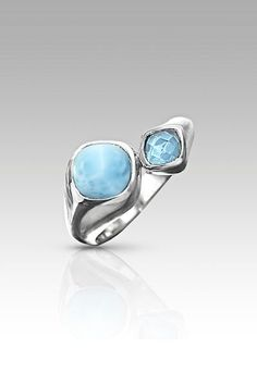 Larimarket - MarahLago Apia Collection Larimar Ring with Blue Topaz, $198.00 (http://www.larimarket.com/marahlago-apia-collection-larimar-ring-with-blue-topaz/)