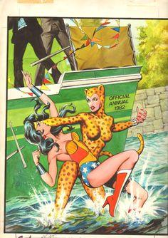 Wonder Woman Annual 1982 Cover - Garry Leach Comic Art