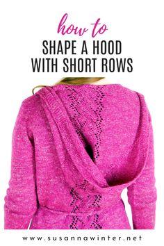 Knitting Blogs, Knitting Tutorials, Easy Knitting, Knitting Stitches, Knitting Projects, Knitting Patterns, Knitting Short Rows, Diy Bags Purses, Hoodie Pattern