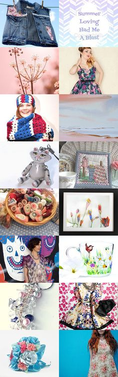 ★ Summer Lovin' ★ by kelly spider on Etsy--Pinned with TreasuryPin.com