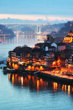 Porto City at the end of the afternoon, Portugal - A cidade do Porto ao final da tarde, Portugal Places Around The World, Oh The Places You'll Go, Travel Around The World, Places To Travel, Places To Visit, Travel Destinations, Dream Vacations, Vacation Spots, Wonderful Places