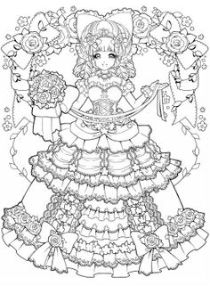 Girl in crinoline