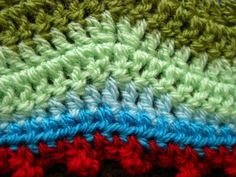 How to crochet a straight edge on a ripple afghan