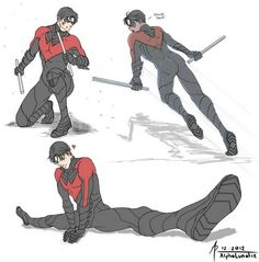 Dick Grayson!, guilty-otpleasures: Nightwing Dynamic practice...