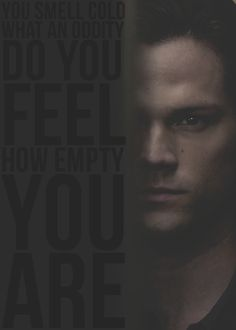 Soulless Sam is the scariest thing that ever happened on supernatural^^^ WHAT!? NO!