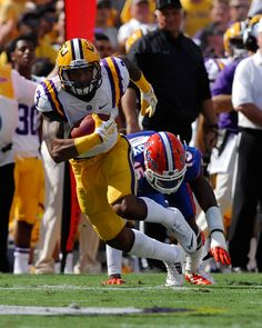 Odell Beckham Jr. was named to the Coaches All-Southeastern Conference football first team as an all-purpose and return specialist as the league office unveiled its Coaches All-SEC squads. Five other LSU Tigers were recognized on the Coaches All-SEC Second Team: wide receiver Jarvis Landry, running back Jeremy Hill, offensive tackle La'el Collins, defensive tackle Anthony Johnson and linebacker Lamin Barrow. Beckham Jr. earned recognition as a second-team All-SEC wide receiver as well.