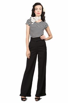 Classic Swing Trousers - Black