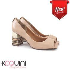 Sempre na moda, nude com salto bloco mega confortável #koquini #comfortshoes #euquero Compre Online: http://koqu.in/2cC06NQ