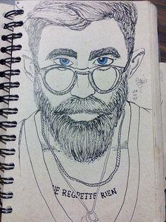 Man/Beard/Tatto/Glasses