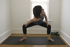 wife Flexible yoga amateur