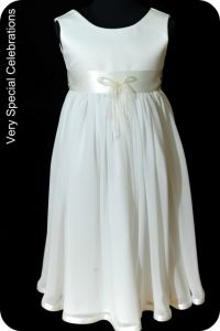 a4334768b82 Ivory chiffon flower girl dress-this is sweet too