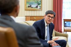 President Barack Obama meets with Treasury Secretary Jack Lew in the Oval Office, August 4, 2014. (Official White House Photo by Pete Souza)