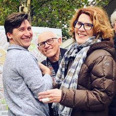 Armin Shimerman and his wife, Kitty Swink with Kai De Mello-Folsom (Producer/What We Left Behind). 2019