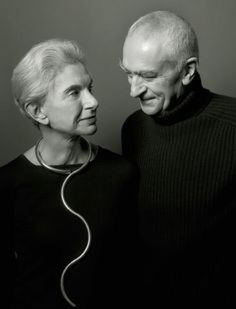 Lella and Massimo Vignelli by Henry Leutwyler