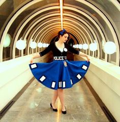 This is the best Tardis dress I have seen. I love this photo.