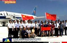 Pesawat Cina Mendarat di Kepulauan Spratly