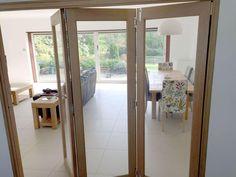 Partially Open 2.1M Finesse internal bifold door