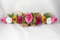 A personal favorite from my Etsy shop https://www.etsy.com/listing/540036581/pink-felt-rose-flower-crown-gold-felt