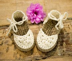 1f6339502ef Ravelry  Baby Espadrilles pattern by Hand Heart and Sole Cutie little pair  of Espadrilles for