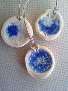 Stained Glass Ceramic Pendants 3 by TheBrandowHomestead on Etsy, $30.00