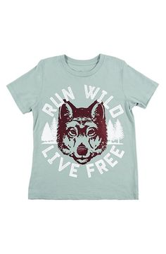 Peek 'Run Wild' Graphic Cotton T-Shirt (Toddler Boys, Little Boys & Big Boys) available at #Nordstrom