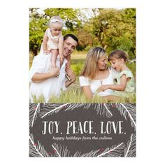 Winter Branches Holiday Photo Cards