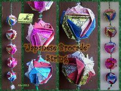 "String com o tradicional ""Japanese Brocade"". Origami, Japanese, Crafts, Art, Art Background, Manualidades, Japanese Language, Kunst, Origami Paper"