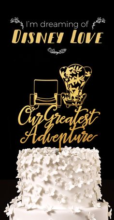 Our Greatest Adventure - Up Chairs Disney Wedding Cake Topper