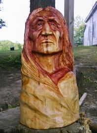 Native American Indian Carving