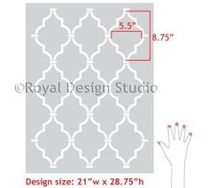 This lovely Casablanca Trellis Moroccan Wall stencil in an allover trellis pattern is super easy to stencil and perfect for Moroccan decor, and anywhere you wan