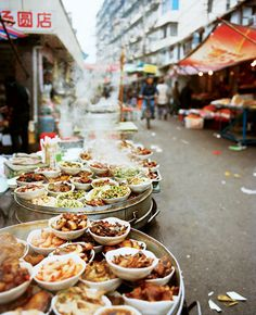 The Street of Heavenly Dumplings in Shanghai street food market