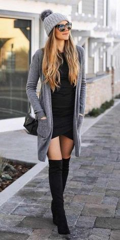 40 Comfy Winter Fashion Outfits for Women in This Year - - Source by knee high boots outfit Winter Fashion Outfits, Fall Winter Outfits, Look Fashion, Trendy Fashion, Autumn Fashion, Fashion Trends, Womens Fashion, Casual Winter, Winter Clothes