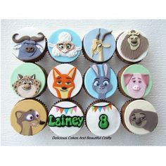 Another set of Zootopia theme cupcakes for Laineys 8th Birthday. All 10…